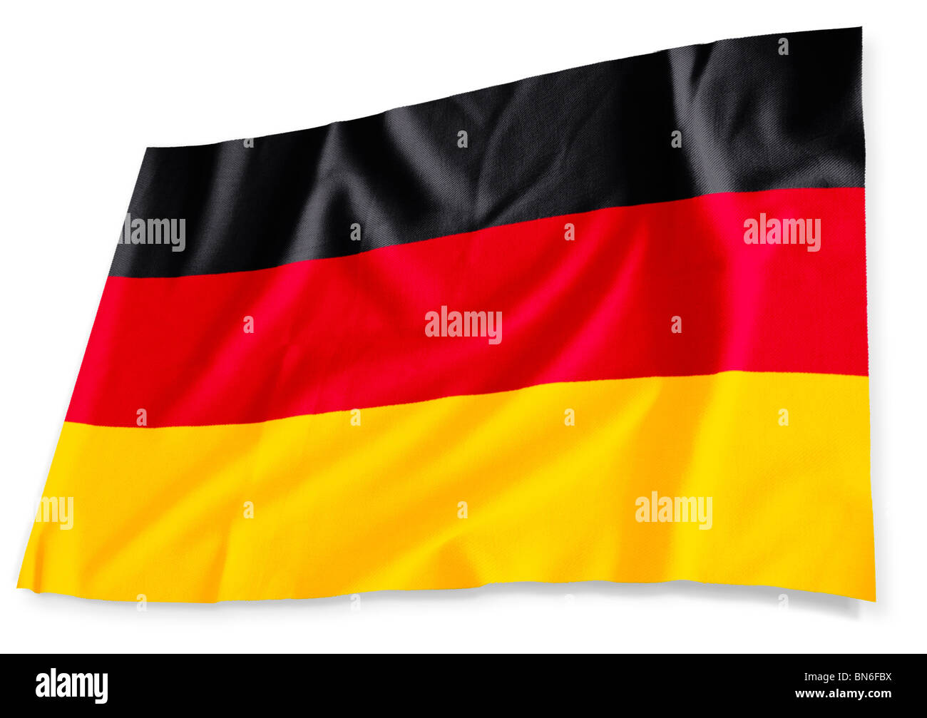 German flag 3D isolated on white - Stock Image