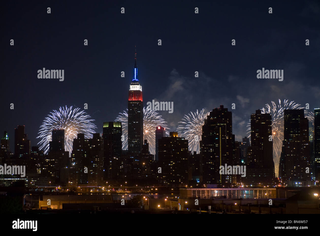 34th annual Macy's Fourth of July fireworks display in New York on Sunday, July 4, 2010. Stock Photo