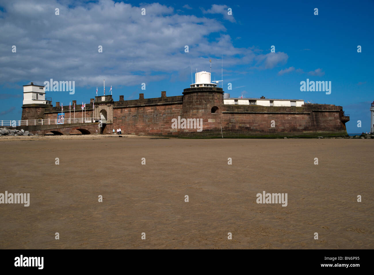 New Brighton on the Wirral coast a popular sea side resort in Wallasey since Victorian times. Now under regeneration - Stock Image