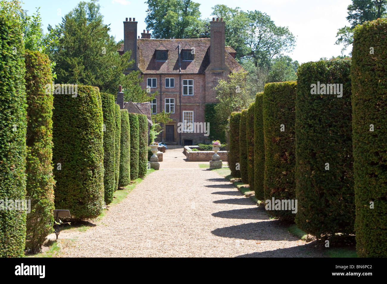 Groombridge Place and Avenue of Trees - Stock Image