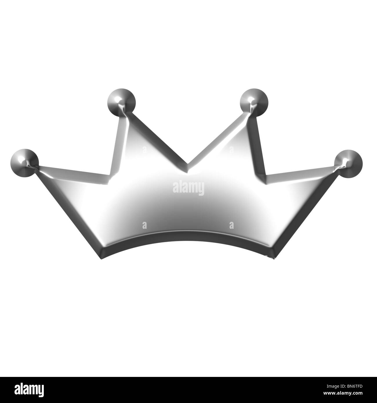 3d silver crown - Stock Image
