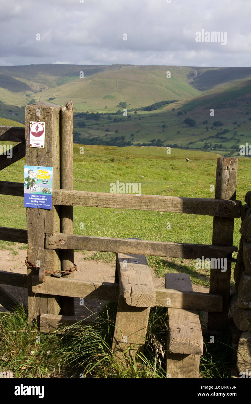 vale of edale derbyshire high peak district national park england uk gb - Stock Image