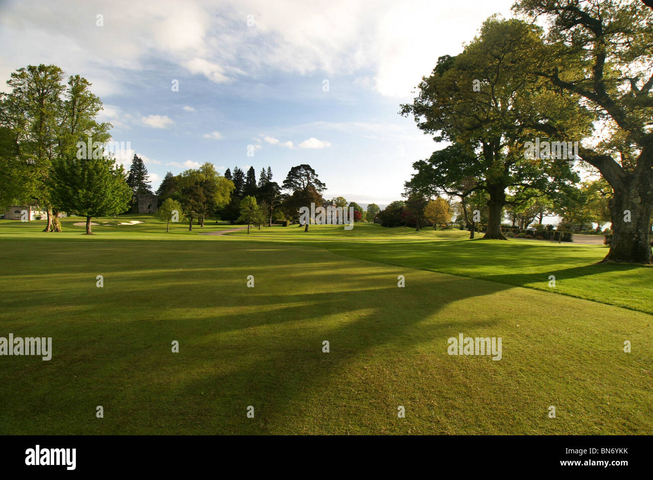 Loch Lomond Golf Course, Glasgow, Scotland Hole 9 Fairway - Stock Image