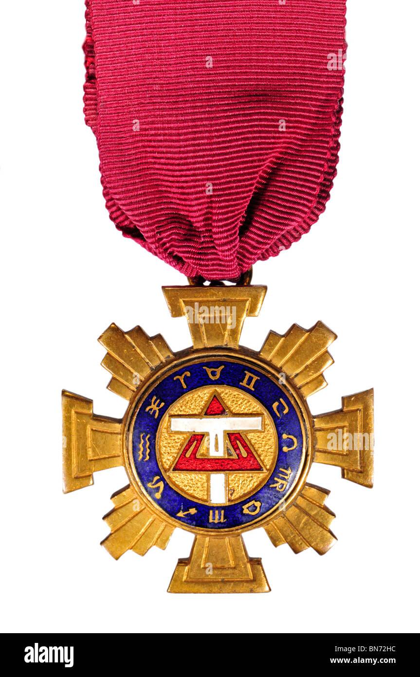 Druid Medal with Zodiac Symbols - Stock Image