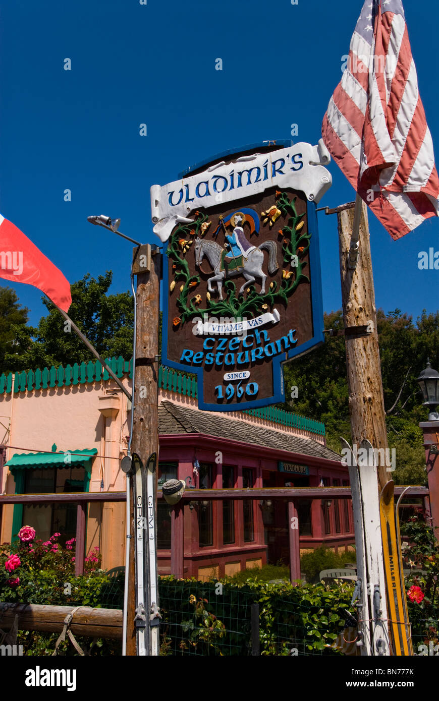 Vladimir's Czech Restaurant Inverness Park CA at Point Reyes National Seashore GGNRA - Stock Image
