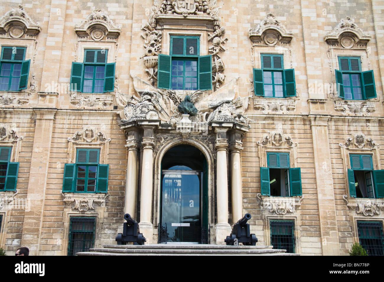 Auberge de Castille, Valletta, office of the Maltese Prime Minister - Stock Image
