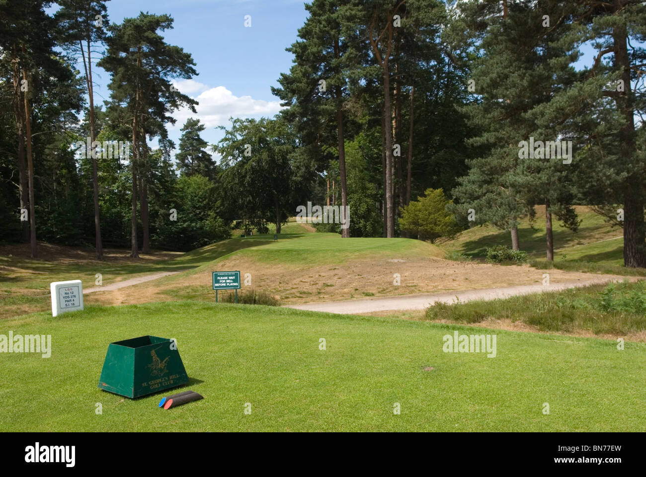 St Georges Hill Surrey Golf Club. Camp End Road  where the Diggers 1649 formed community  HOMER SYKES - Stock Image