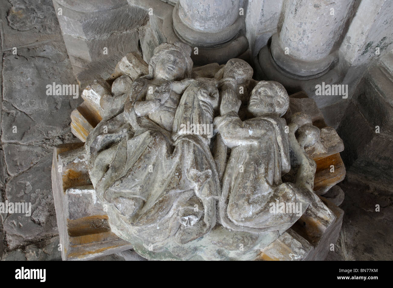 Boss artefact in Abbey Dore, Herefordshire, England, UK - Stock Image