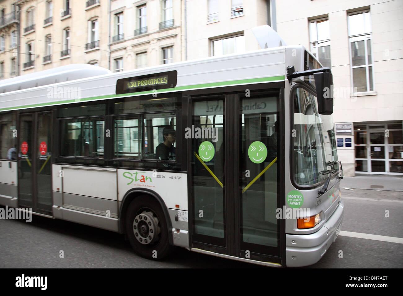 A bus number 130 Provinces, Nancy, France - Stock Image