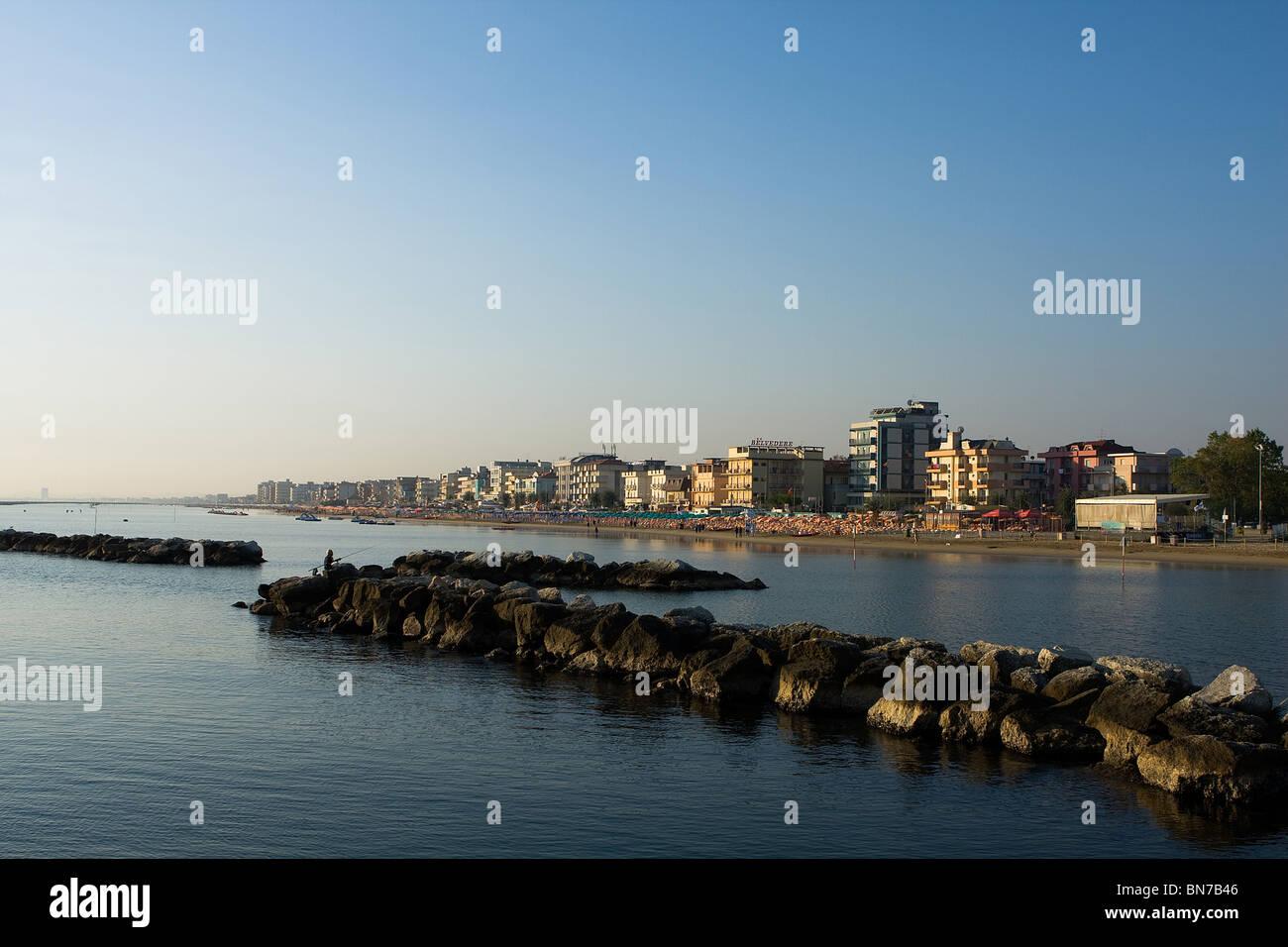 Adriatic coast landscape, Bellaria, Italy - Stock Image