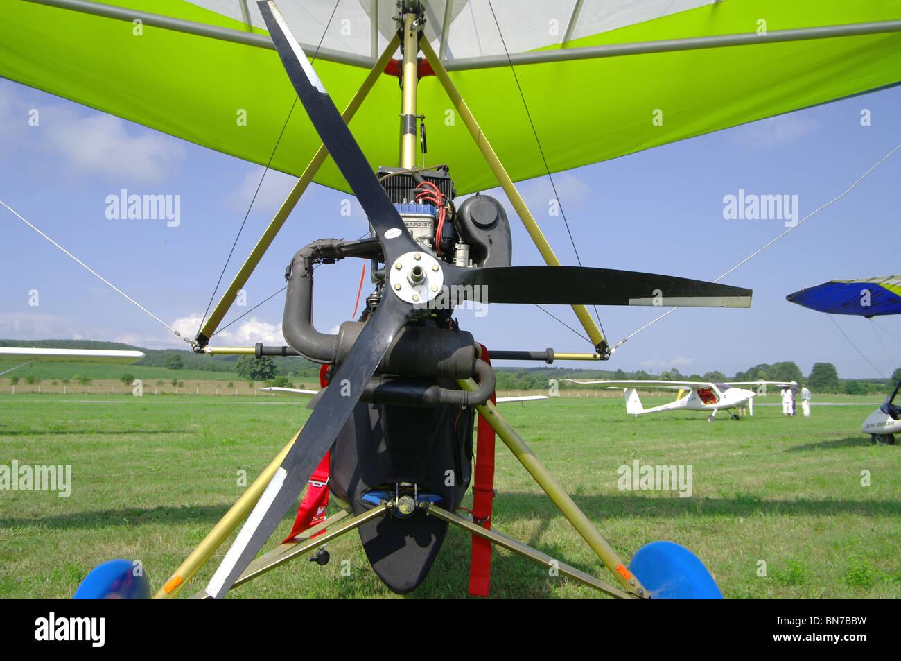 motor gliders propeller - Stock Image