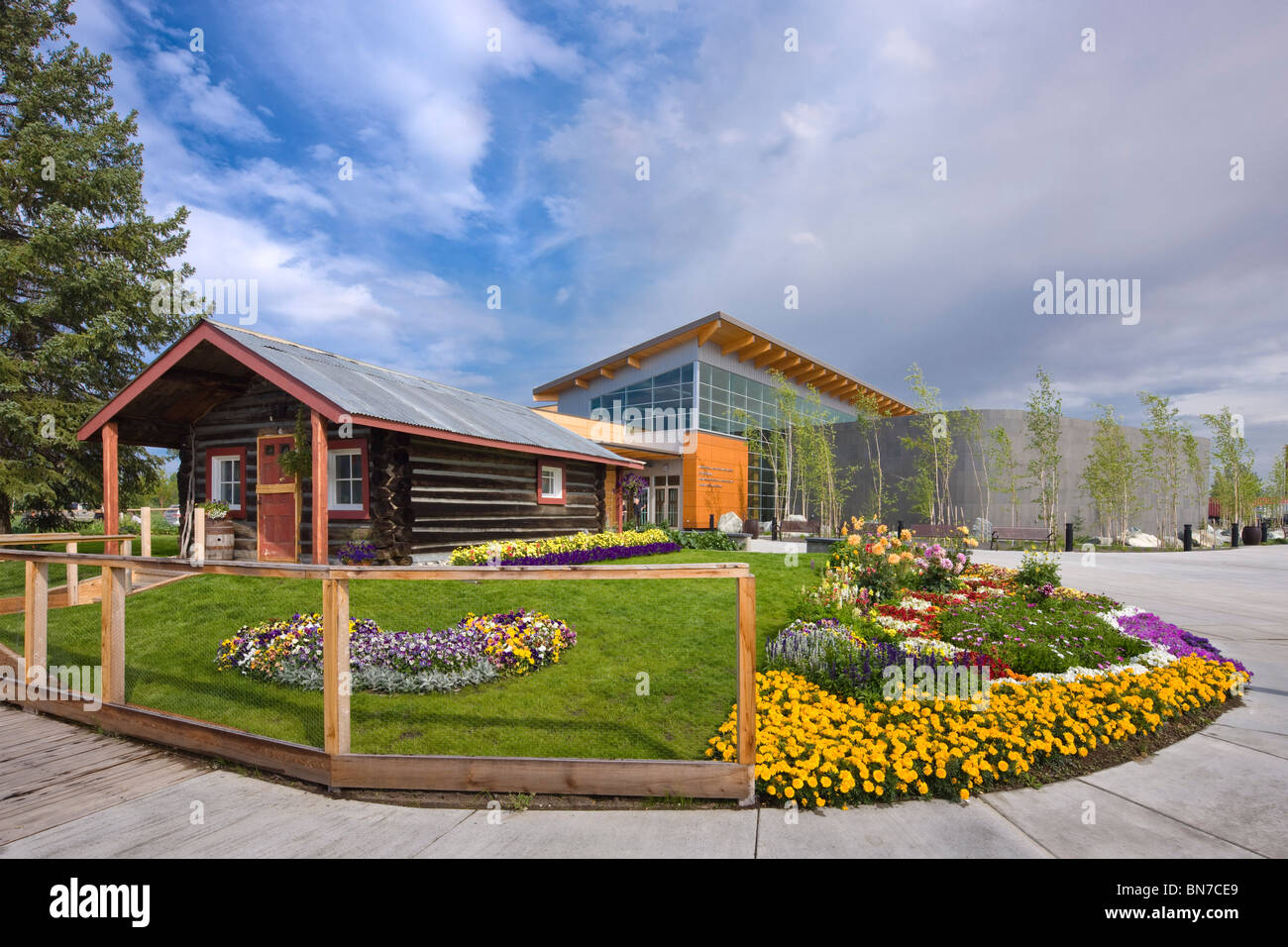 The Morris Thompson Cultural And Visitors Center In Downtown Fairbanks,  Alaska