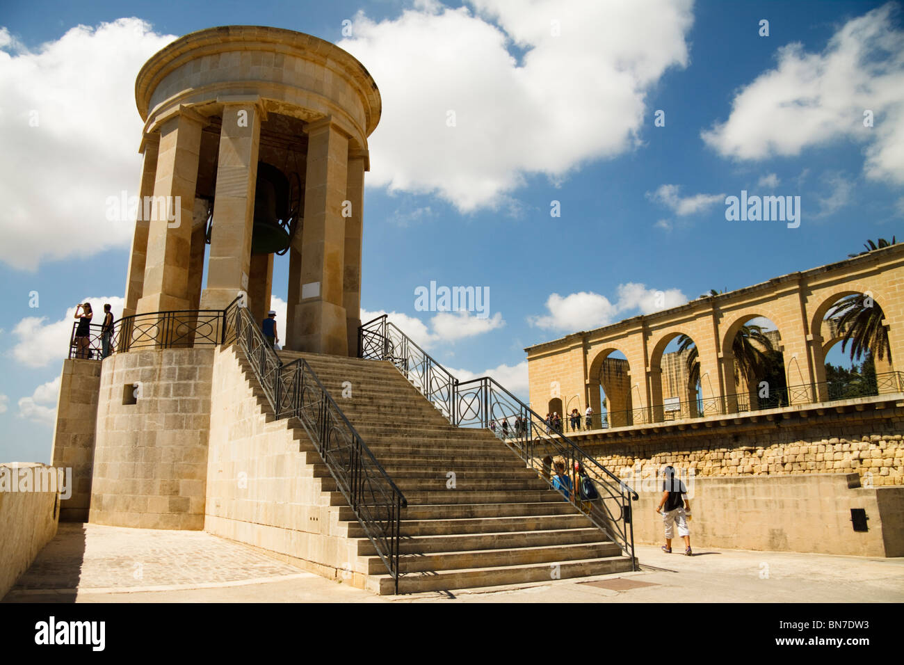 Siege Bell Monument, Valletta, Malta - Stock Image