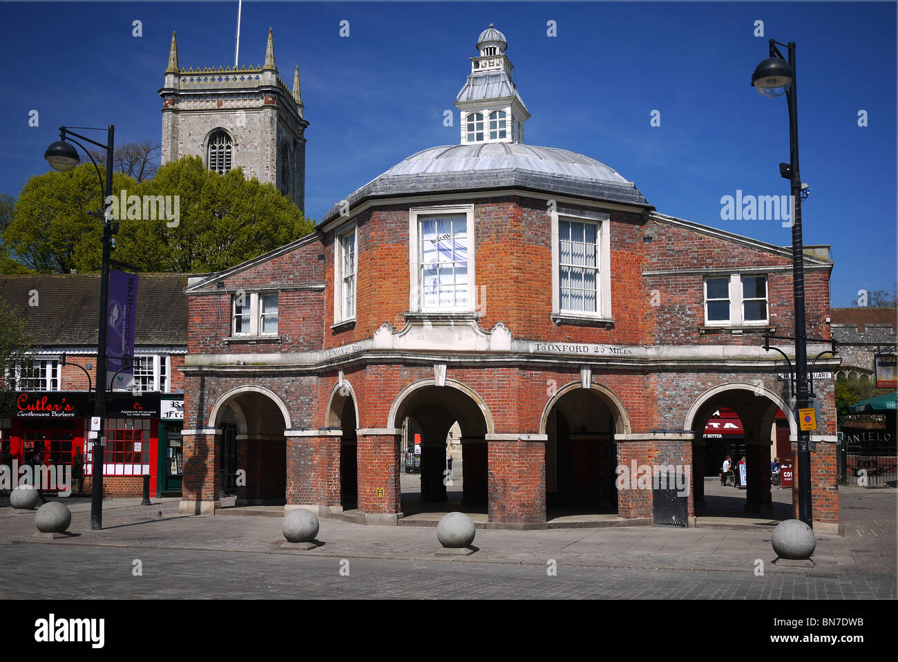 High Wycombe town centre The Market House, Market Square, High Wycombe, - Stock Image