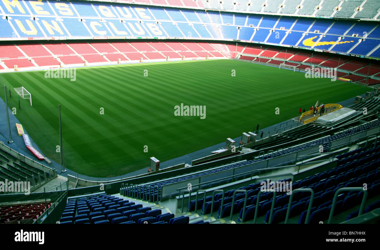 Nou Camp Stadium, Barcelona FC - Stock Image