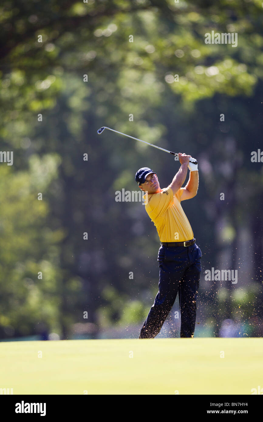 Scott McCarron competing at the 2010 AT&T National - Stock Image