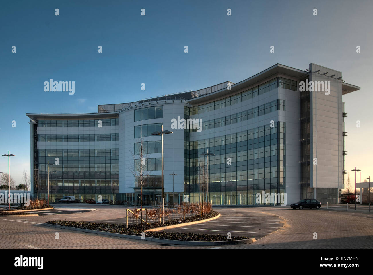 exteriors of Ray Marine office building at Cosham, Portsmouth - Stock Image