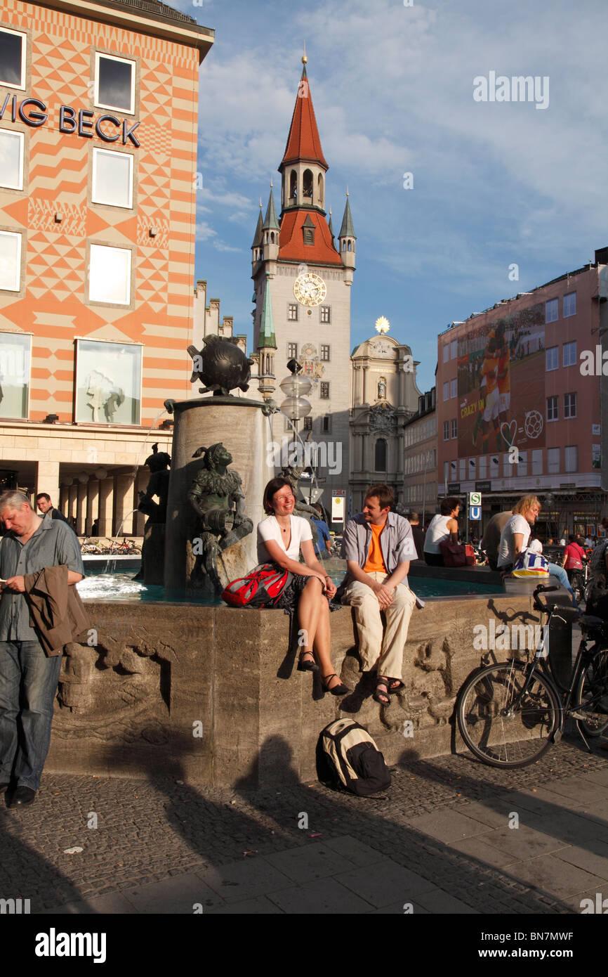 Marienplatz in Munich - Stock Image
