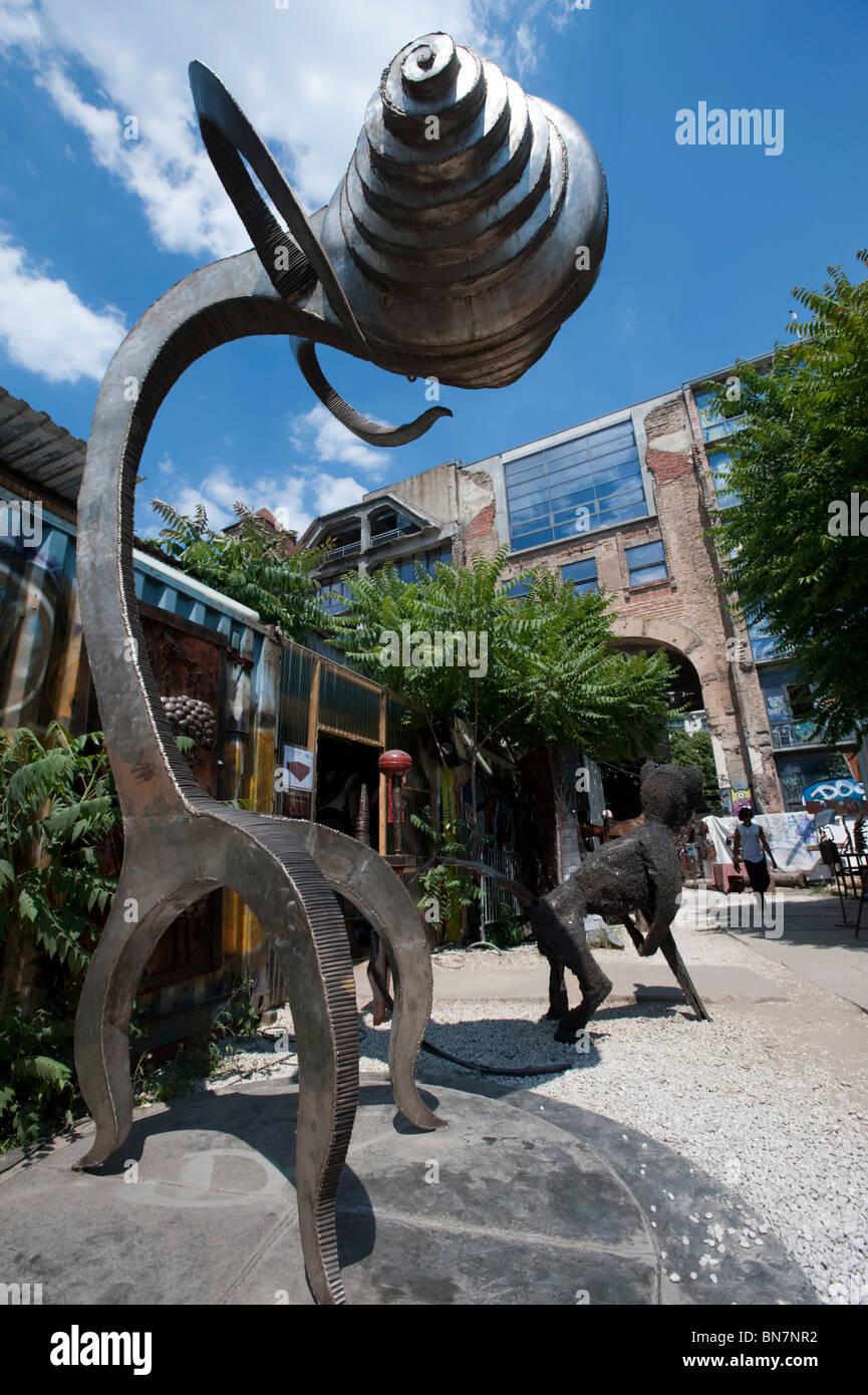 Modern Art Sculptures At Art Outdoor Art Gallery At Tacheles Art Workshop Space On Oranienburger Strasse In Berlin Germany