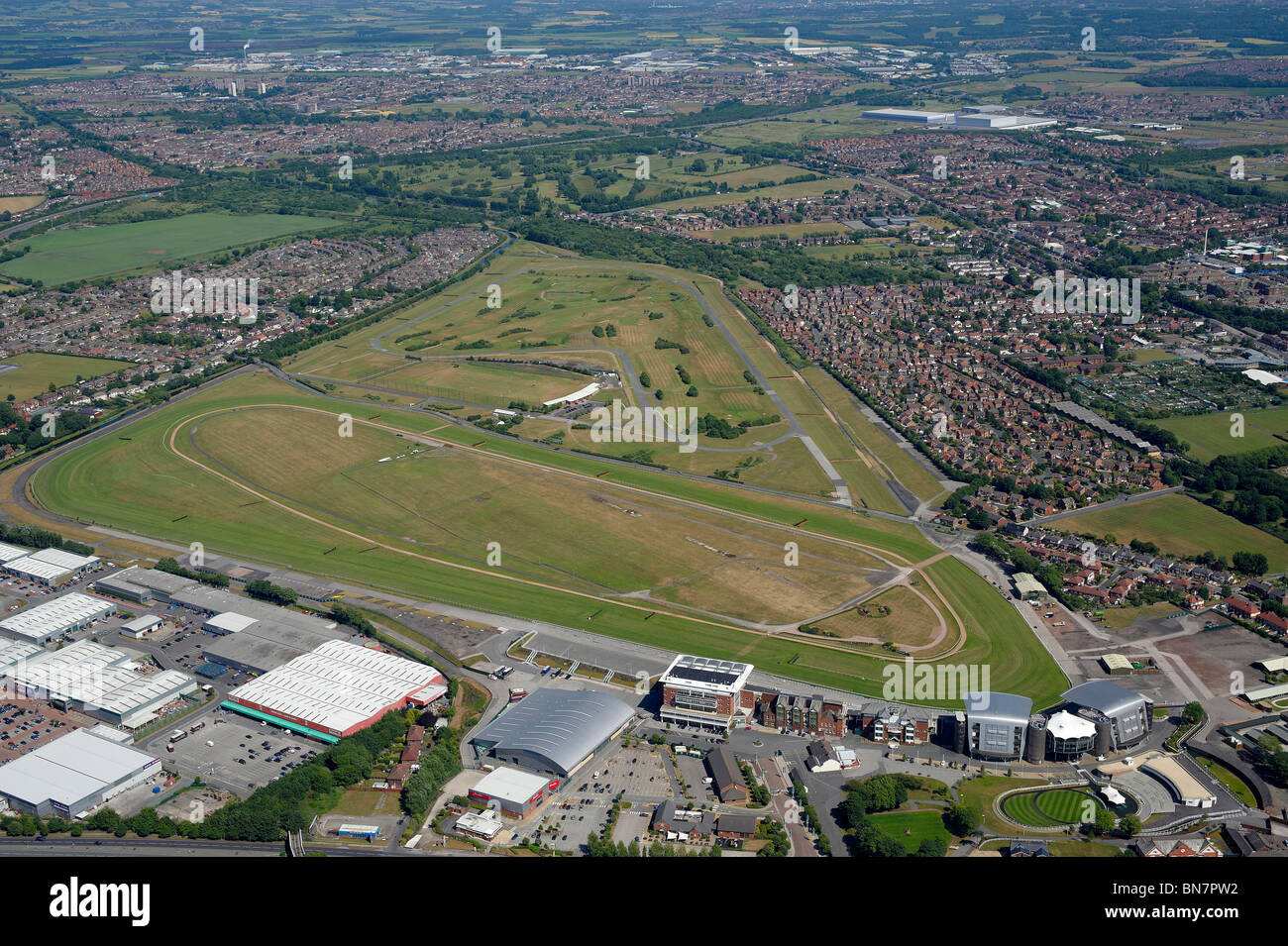 Aintree Racecourse, home of the Grand National, Liverpool, North West England Stock Photo