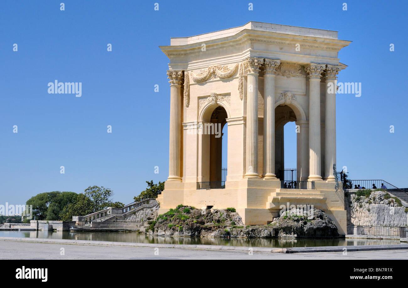 Water Tower, Promenade du Peyrou, Montpellier France Stock Photo