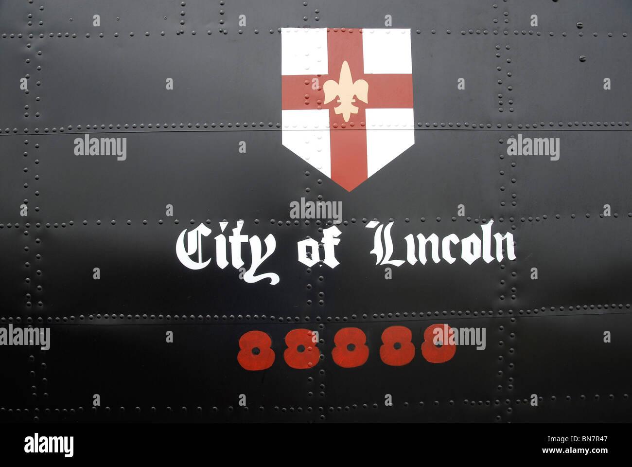 Detail from Battle of Britain Memorial Flight Lancaster Bomber, 2010. Stock Photo