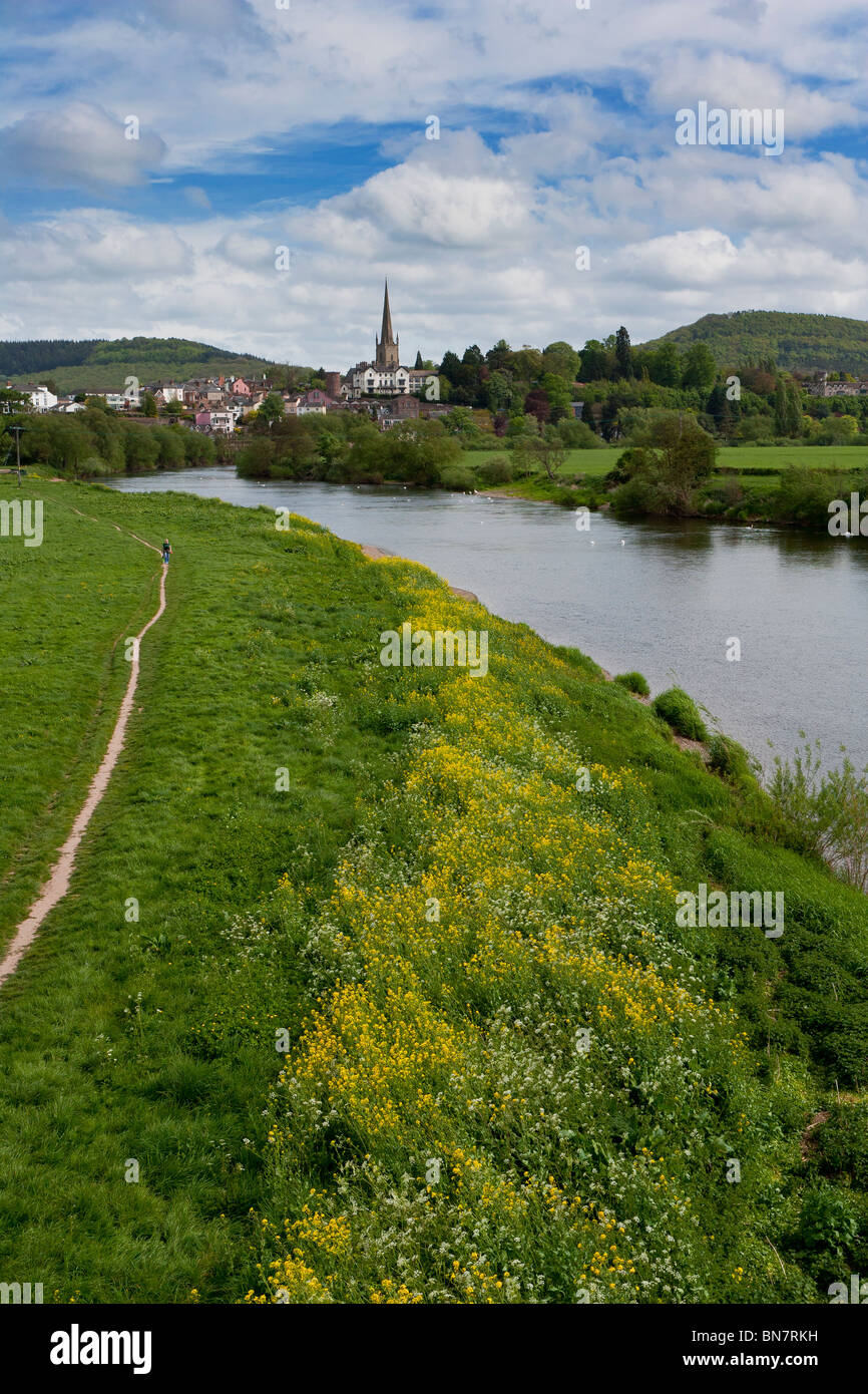 RIVER WYE AT ROSS -ON -WYE - Stock Image