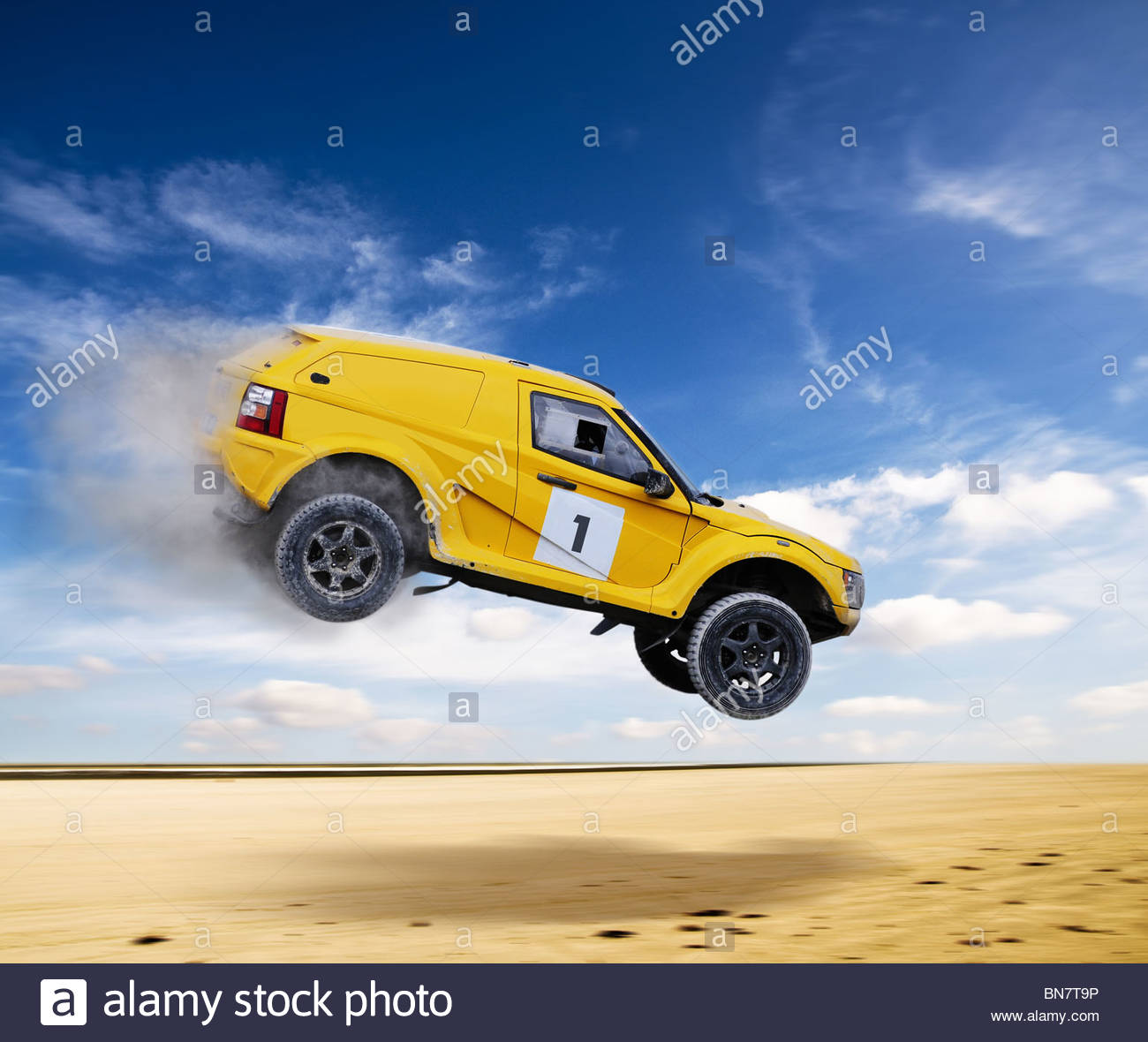 desert rally - Stock Image