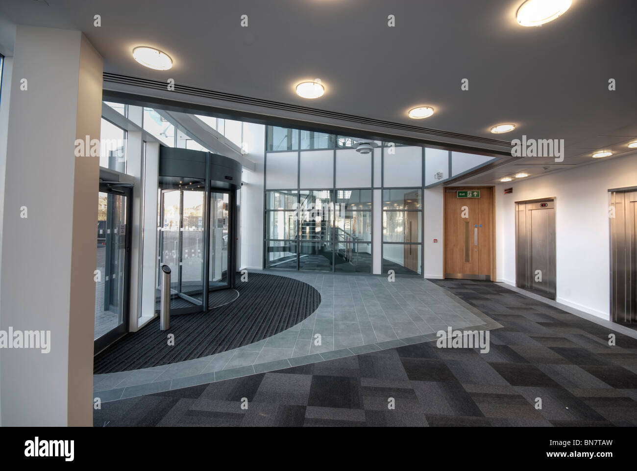 Modern office reception entrance without people - Stock Image