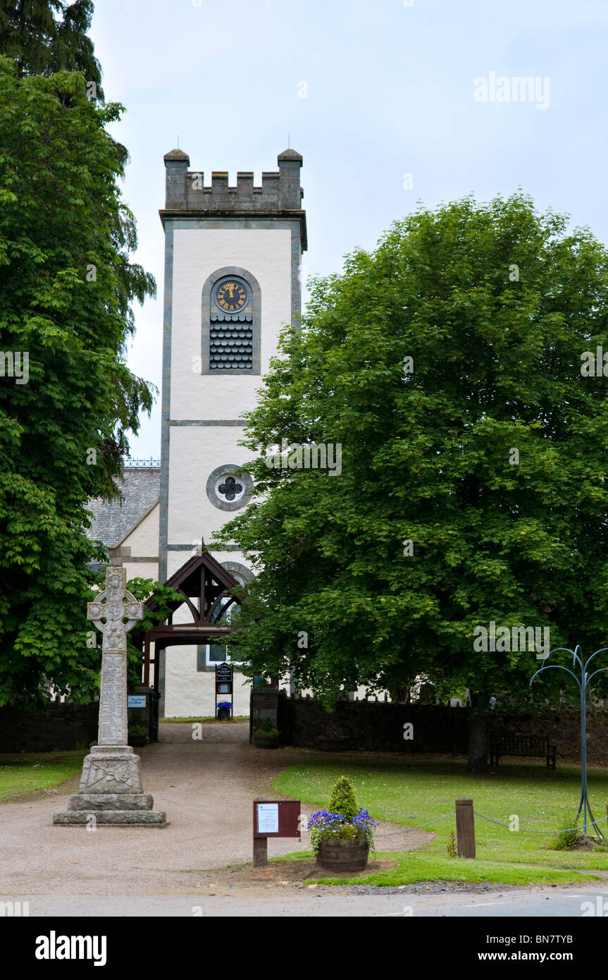Kenmore parish church in the village of Kenmore, Tayside, Perthshire in Scotland taken on a summers day - Stock Image
