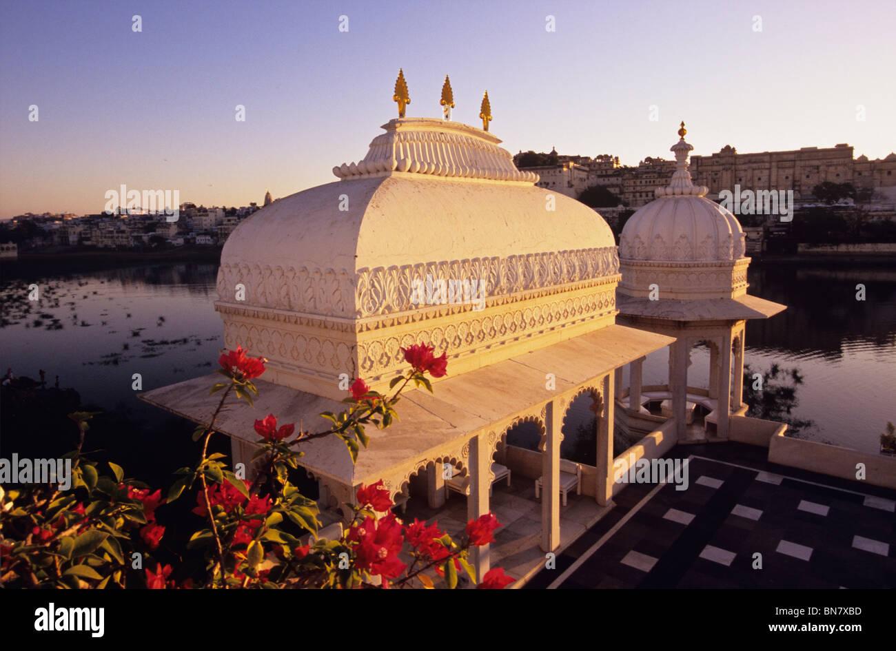 Jag Niwas Lake Palace Hotel Udaipur Rajasthan India - Stock Image