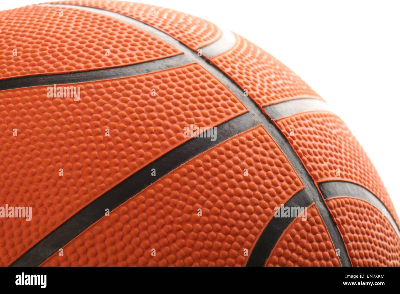Orange Basketball close up shot Stock Photo
