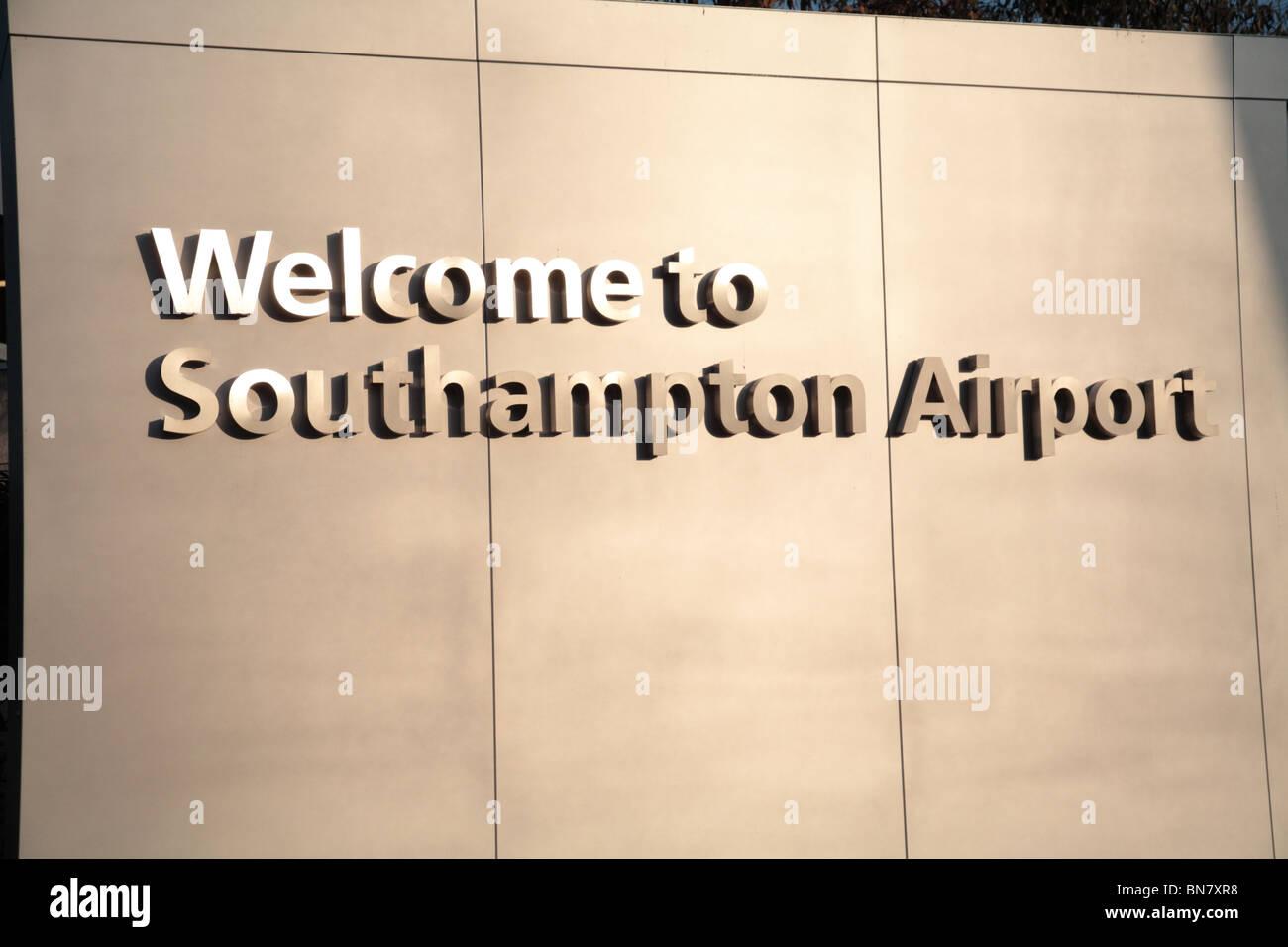 Southampton Airport sign Stock Photo