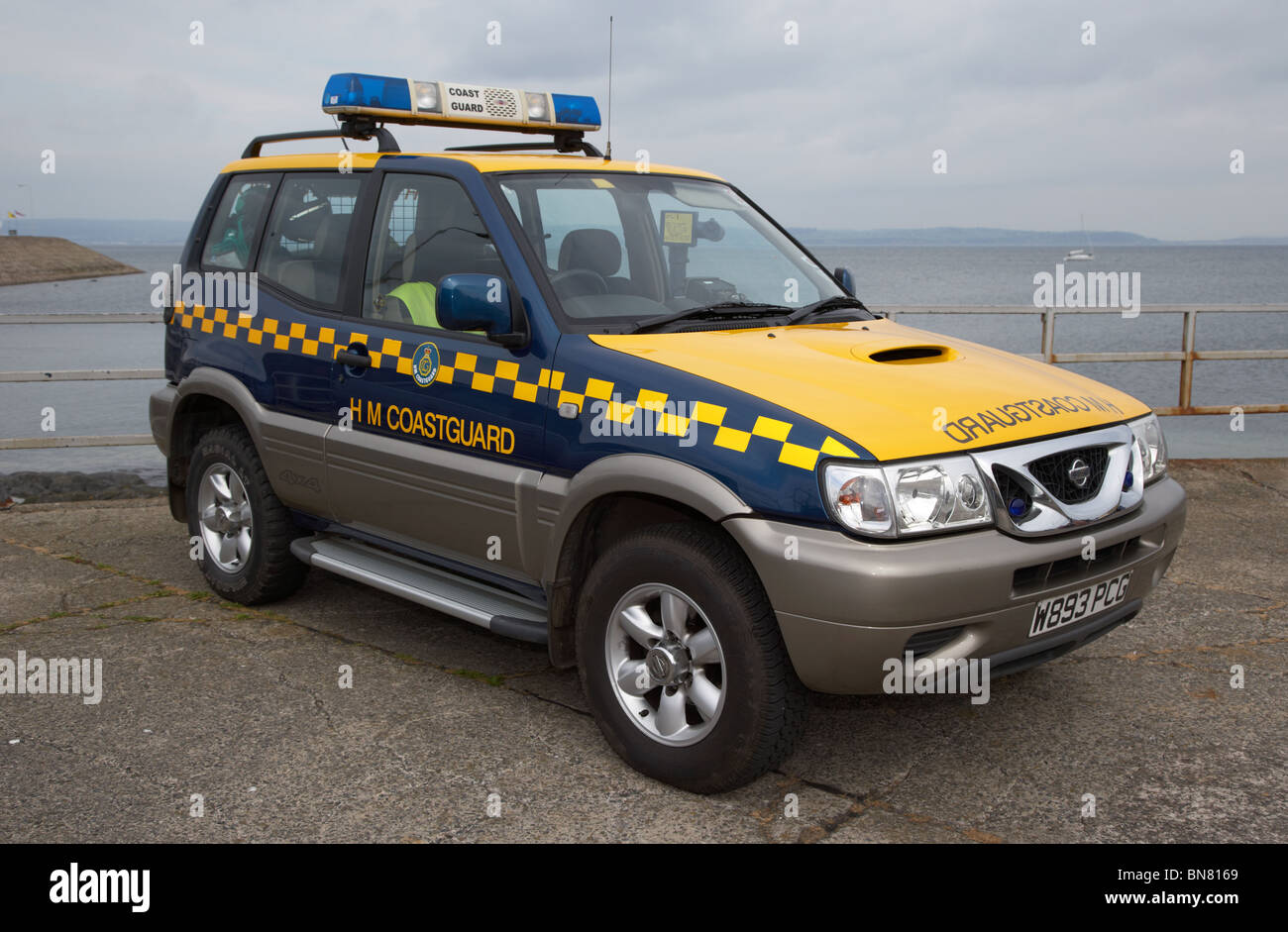 hm coastguard search and rescue 4x4 vehicle parked on a