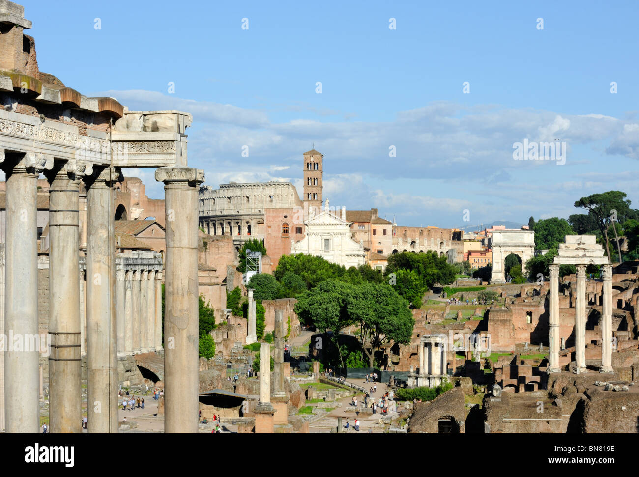 The Colosseo and the Foro Romano, Rome, Italy - Stock Image