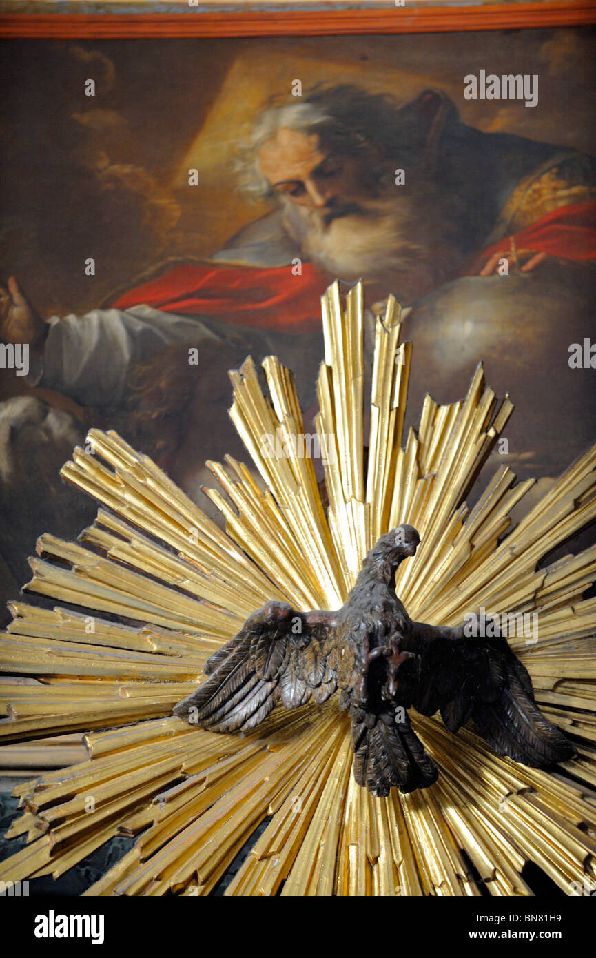 Religious iconography in the Pantheon in Rome, Italy - Stock Image