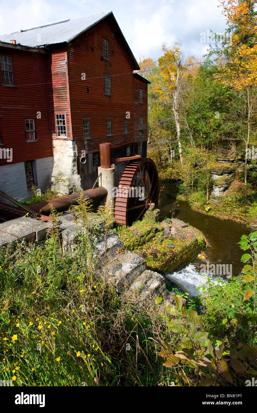 New Hope Mills New York Finger Lakes Region - Stock Image