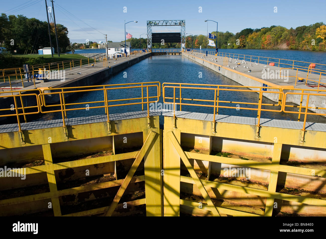 Seneca Falls New York Canal Lock - Stock Image