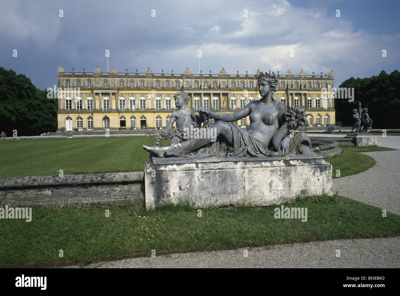 Herrenchiemsee Bavaria built by Mad Ludwig II of Bavaria 1878-1885 inspired by Versailles. - Stock Image