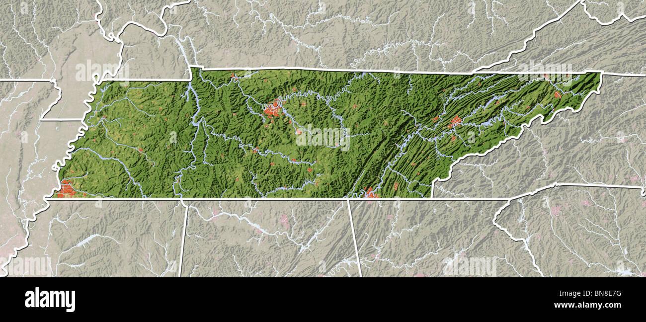 Physical Map Of Tennessee Stock Photos & Physical Map Of ... on north carolina map, usa map, tn map, ohio map, illinois map, virgina map, mississippi map, nc map, alabama map, texas map, sc map, michigan map, georgia map, kentucky map, nashville map, missouri map, south carolina map, florida map, arkansas map, tennessee map,