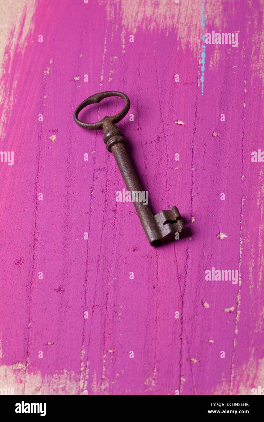 Old rusty key - Stock Image