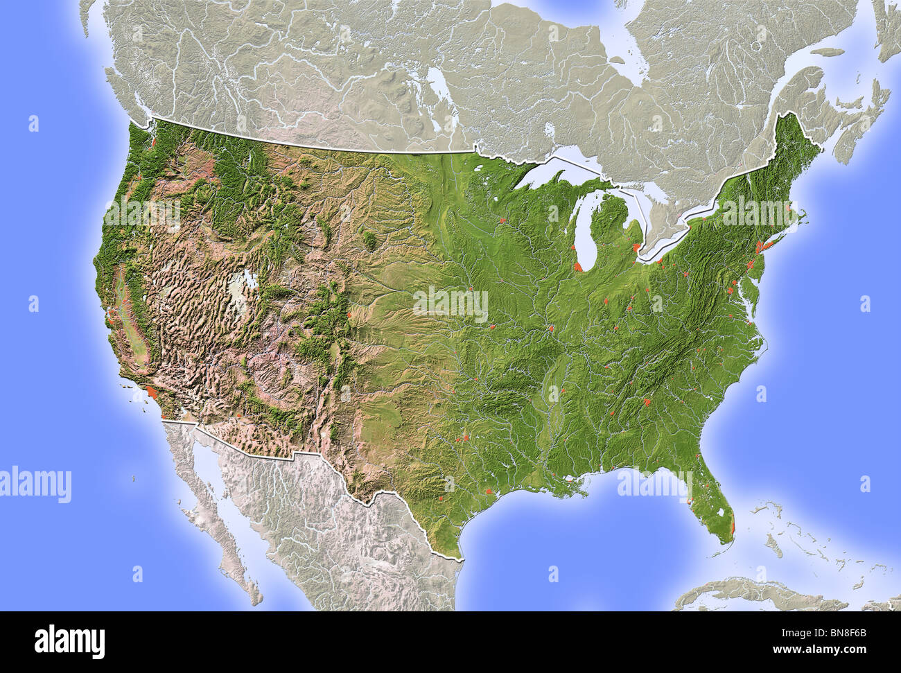 Us Relief Map Stock Photos Us Relief Map Stock Images Alamy