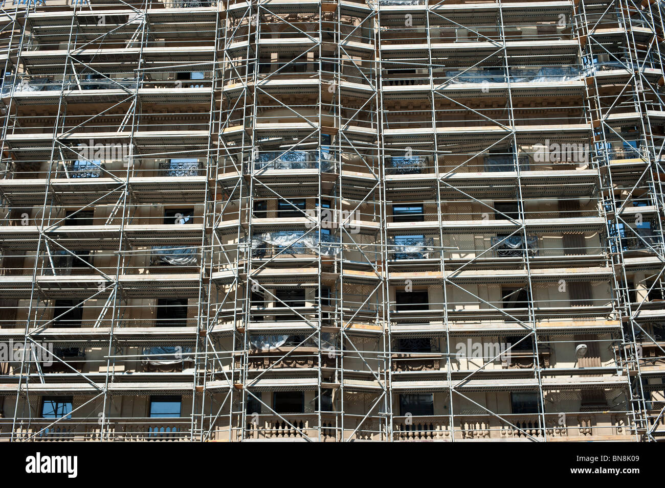 Building Scaffolding Stock Photo