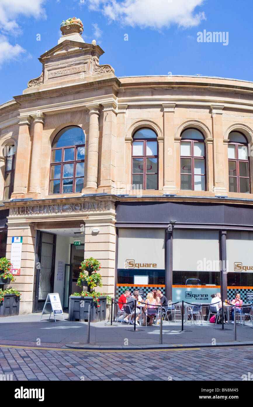 GLASGOW CAFE IN MERCHANT CITY - Stock Image
