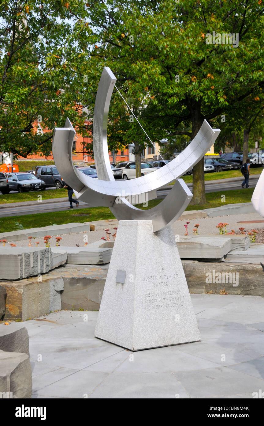Joseph Pew Sundial Cornell University Campus Ithaca New York Finger Lakes Region - Stock Image