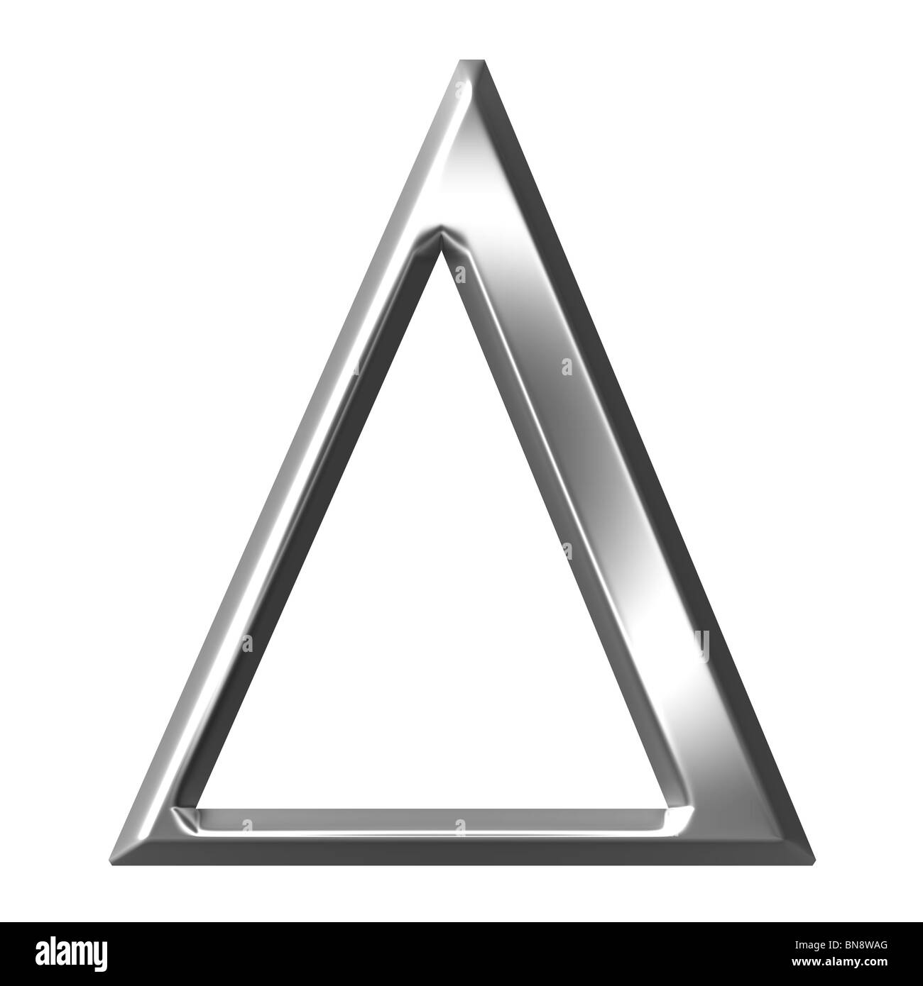 3d Silver Greek Letter Delta Stock Photo 30313656 Alamy