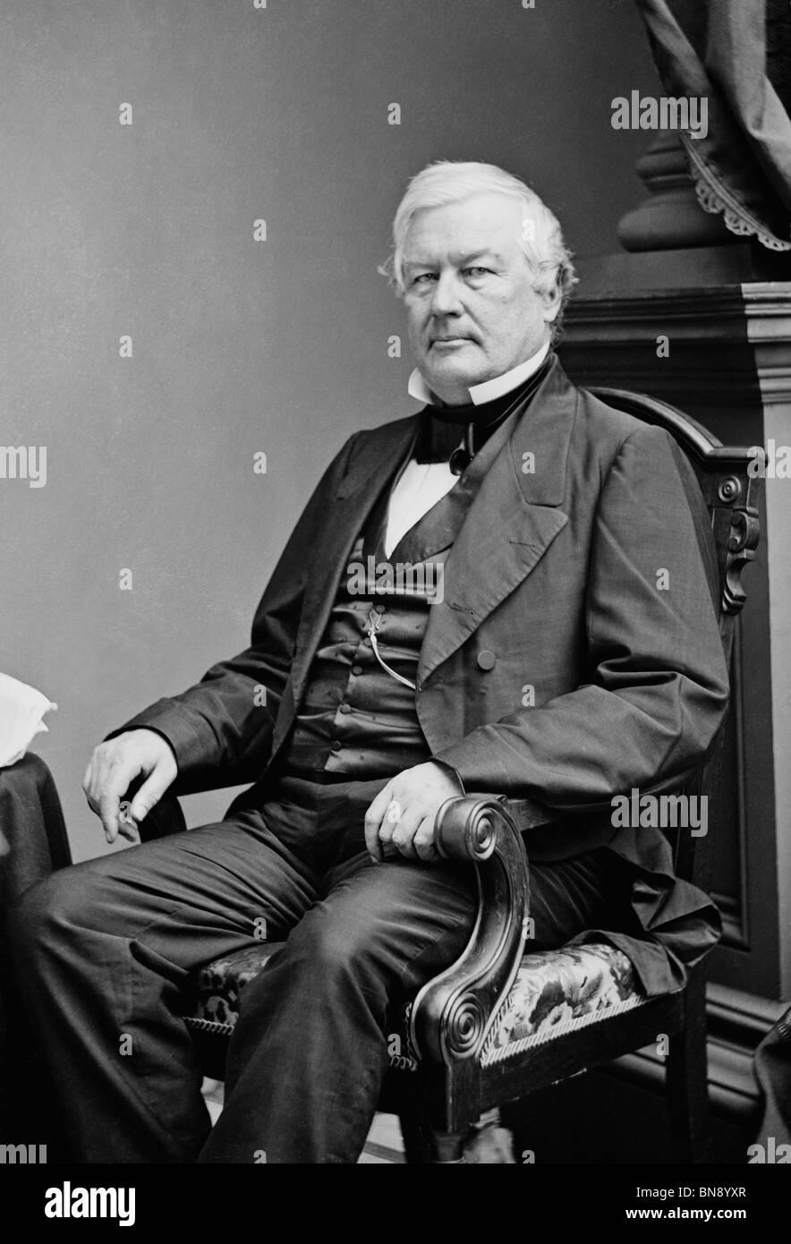 Portrait photo circa 1850s of Millard Fillmore (1800 - 1874) - the 13th US President (1850 - 1853). Stock Photo