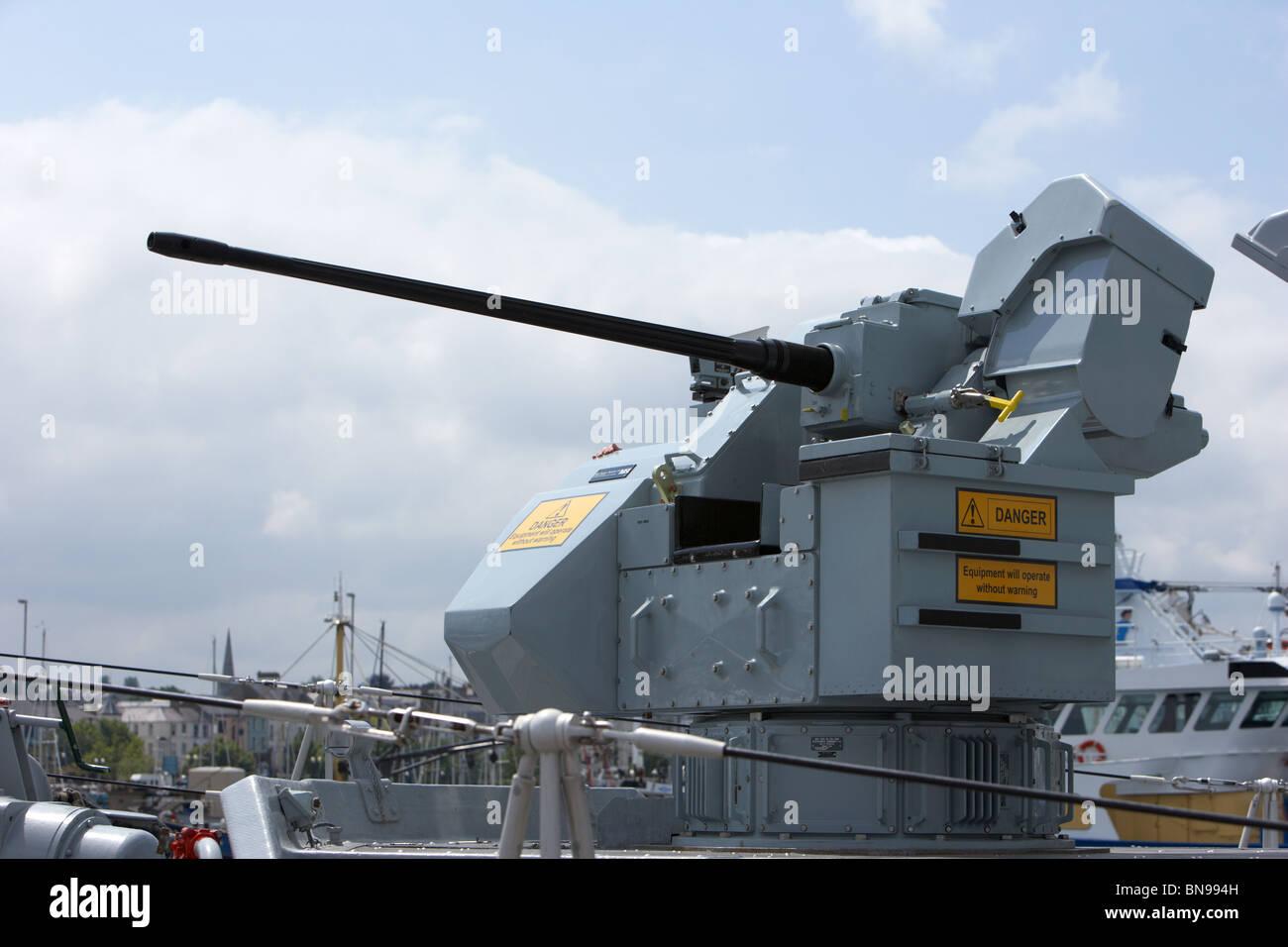 Oerlikon 30mm KCB gun on DS-30B mount HMS Bangor Stock Photo