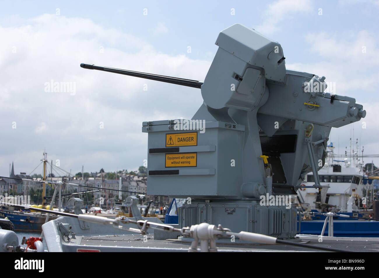 Oerlikon 30mm KCB gun on DS-30B mount HMS Bangor - Stock Image