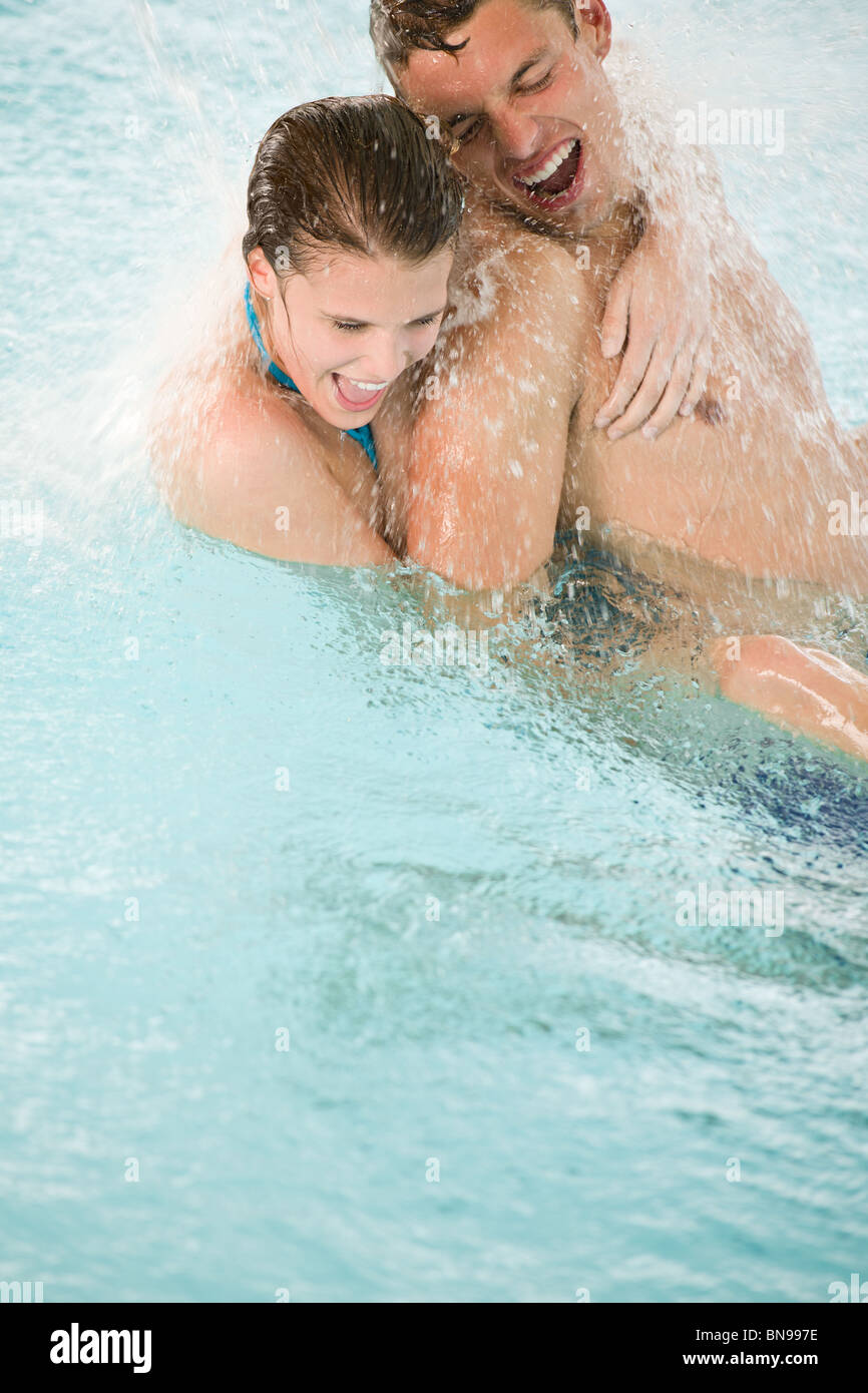 Indoor Pool Couple Stock Photos Indoor Pool Couple Stock Images Alamy